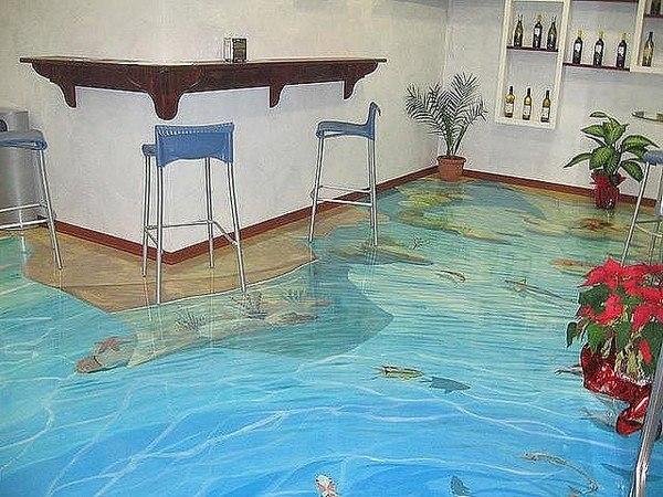 Как сделать наливной пол с рисунком